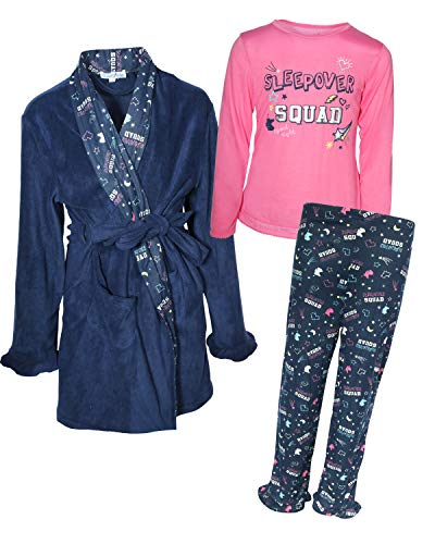 - Freestyle Girls 3 Piece Pajama Robe Set, Sleepover, Size 7\''