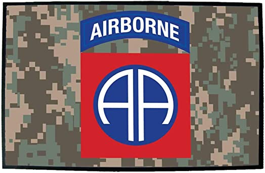 VictoryStore Home Accessories 82nd Airborne Division Door Mat 24 inches x 36 inches