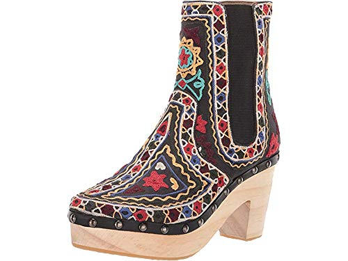 Free People Women's West Johanna Clog Black Combo 37 M EU