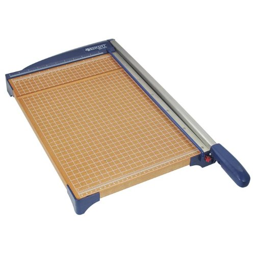 Westcott Guillotine Paper Trimmer With Wood Base, 15''