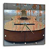 3dRose dpp_29250_1 Guitar Tread Music Instruments Wall Clock, 10 by 10-Inch For Sale