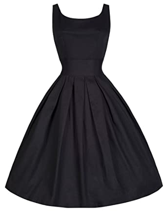 974b128492a GSHappyGo Women s 1950 s Vintage Rockabilly Party Bubble Swing Dress  Cocktail Black ...