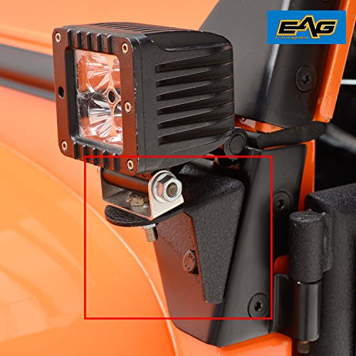 EAG Windsheild Light Mount Brackets (Lower Hinge) for 87-06 Jeep Wrangler TJ / YJ / CJ