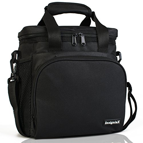 Insulated Lunch Bag S1/S2: InsigniaX Lunch Box/Cooler/Lunchbag for Adult Women Men Work School Picnic Kids Girls Boys With Strap Bottle Holder H: 10