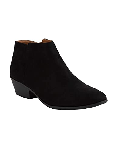 a8423eec1c Amazon.com | SODA Faux Suede Black & Brown Booties | Boots