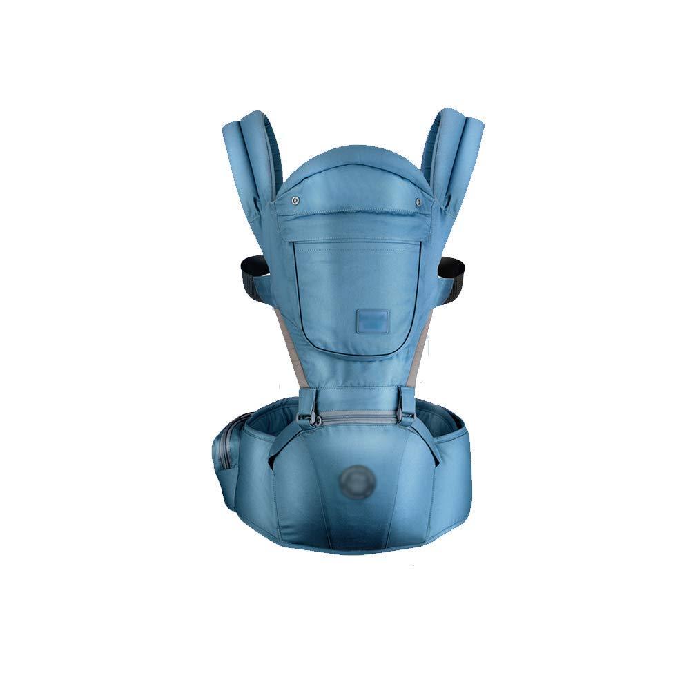 Babytrage Größe Hocker Baby Carrier Multifunktions Baby Holding Hocker 3-36 Monate Halten Baby Artefakt Vier Jahreszeiten Universal Baby Größe Hocker Rückenträger (Farbe   Blau)