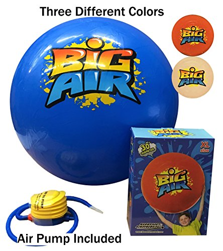 Wave Runner Inflatable Beach Balls by Big Air Giant Beach Ball Three Colors Available Red White Blue Great For Beach Pool Pond Lake Park Summer Gift Toy Assorted Colors (30 inch)