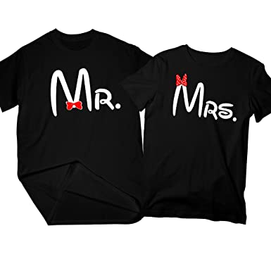 98ccfc3ac Mr. Mrs. Cartoon   Matching Couple Shirts, His and Her T-Shirt ...