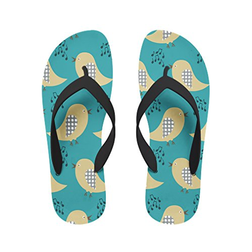 Style in Print Singing Birds Beach Flip Flops Small
