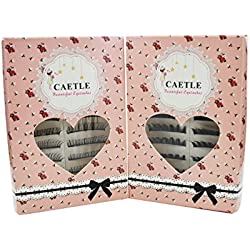 CAETLE® Beauty Handmade 20 Pairs Regular Long and Thick Eyelashes Style 1 and 2