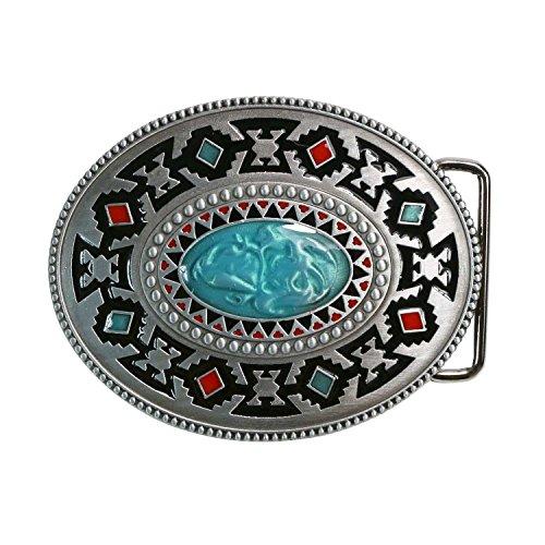 Handmade Buckle (Landisun Handmade Classical Southwest Totem Belt)