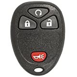 Keyless2Go Keyless Entry Car Key Replacement for Vehicles That Use 4 Button 15913421 OUC60270, Self-programming