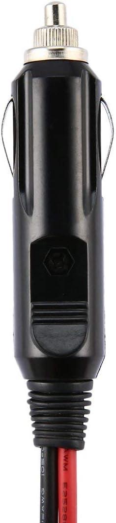 Couleur: Noir et Rouge 1.5M 12V DC 30A fusible Allume-Cigare de c/âble de Cordon dalimentation de 6 bornes pour Yaesu FT-857D FT-897D rallonge Anti-oxydation