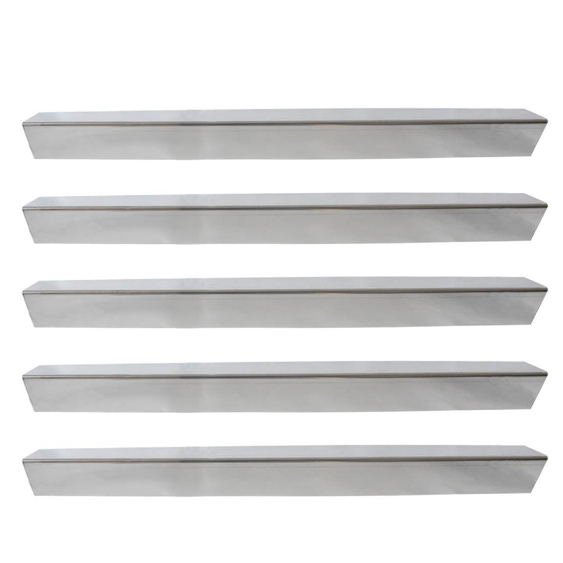 Onlyfire Gas Grill Replacement Stainless Steel Flavorizer Bars/Heat Plate/Heat Shield for Weber Genesis 300 Series Grills Models(Side-mounted Panel), Set of 5, 24 1/2'' x 2 2/5'' x 2 2/5'' Inches