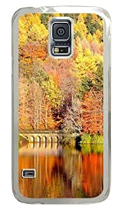 Autumn Scenery Custom Samsung Galaxy S5 Case Back Cover, Snap-on Shell Case Polycarbonate PC Plastic Hard Case Transparent