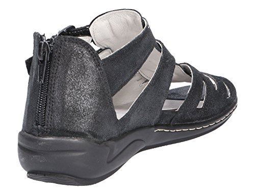 Metallic Nero Waldläufer 001 Noir Schwarz Noir Nero Sandalettes Femmes 582002175 zExrE7wFq