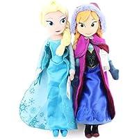 Peluche Muñeca Frozen Princesas para Niña Anna Y Elsa 40 Cm