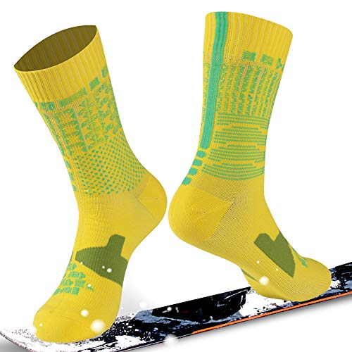 Waterproof socks, RANDY SUN Outdoor Sports Mens & Womens Running Climbing Cycling Mid-Calf Socks
