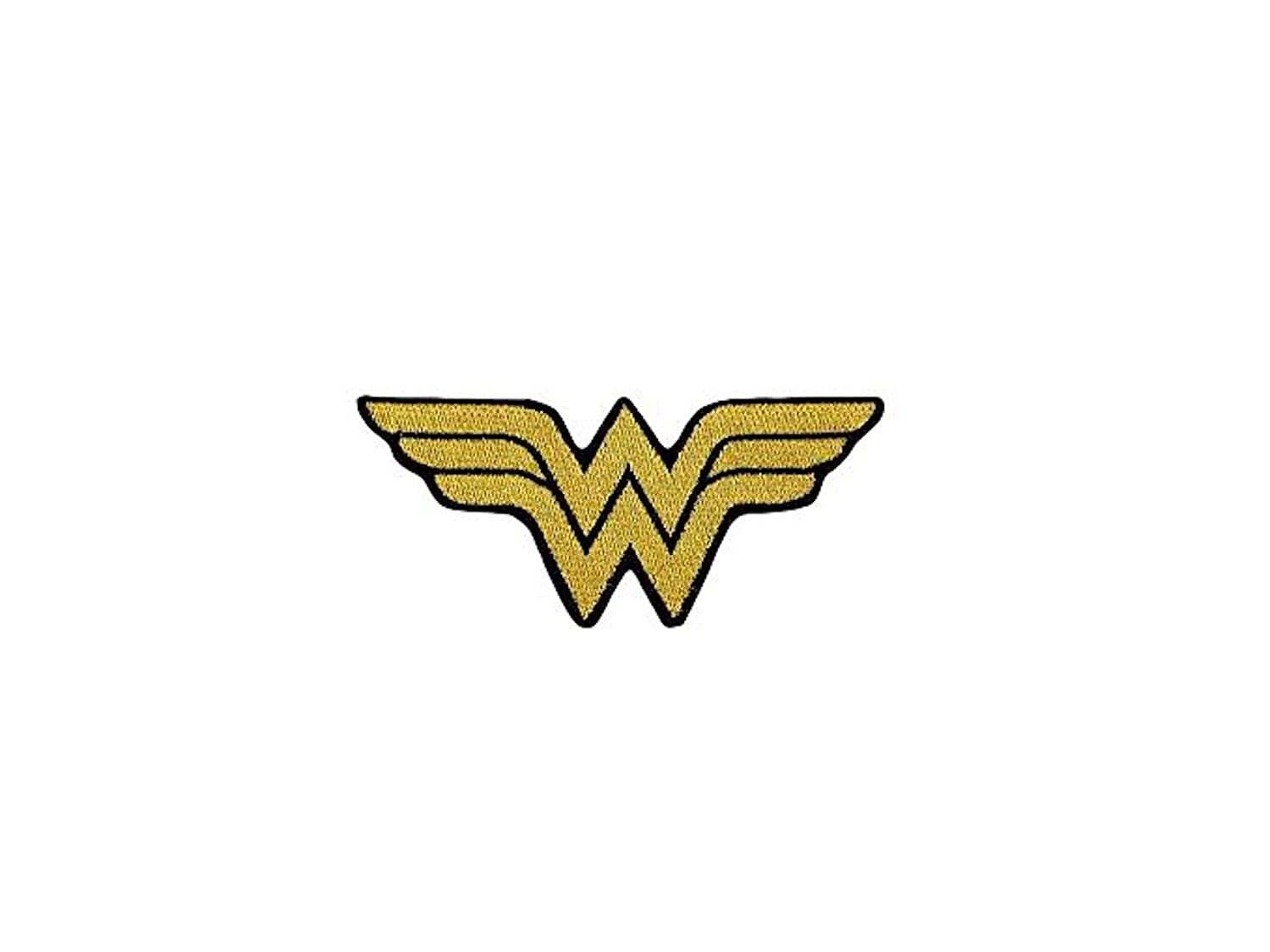 Wonder Woman Classic Shield Logo 5.25 Inch Wide Iron On Patch