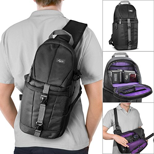Altura Photo Camera Sling Backpack for DSLR and Mirrorless Cameras (Canon Nikon Sony Pentax) (Backpack Camera Case)