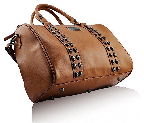 New Tan Handbags Leather Tote Sale Bags Ladies Faux Designer Large 5 Womens Shoulder Design SvqdOvw