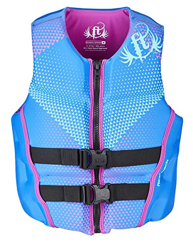 Full Throttle Women's Rapid Dry Flex-Back Life Jacket, Blue, ()