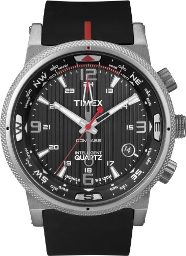 Timex Intelligent Quartz T2N724 Mens Indiglo PREMIUM IQ Compass Watch