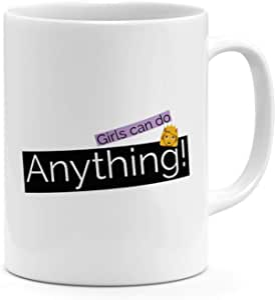 لاود يونيفيرس جيرلز Can Do Anything Women Girls Motivation Self Image Mug