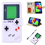 S5 Case, UrSpeedtekLive Galaxy S5 Wallet Case, Premium PU Leather Wristlet Flip Case Cover with Card Slots & Stand Compatible Samsung Galaxy S5, Gameboy