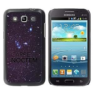 Be Good Phone Accessory // Dura Cáscara cubierta Protectora Caso Carcasa Funda de Protección para Samsung Galaxy Win I8550 I8552 Grand Quattro // Carpe Noctem Night Sky Bright Stars