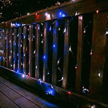 HJL- 100 Led White Net Light 2M X 1.5M Solar Christmas Light,Solar Holiday Light(Cis-57181) , Blue