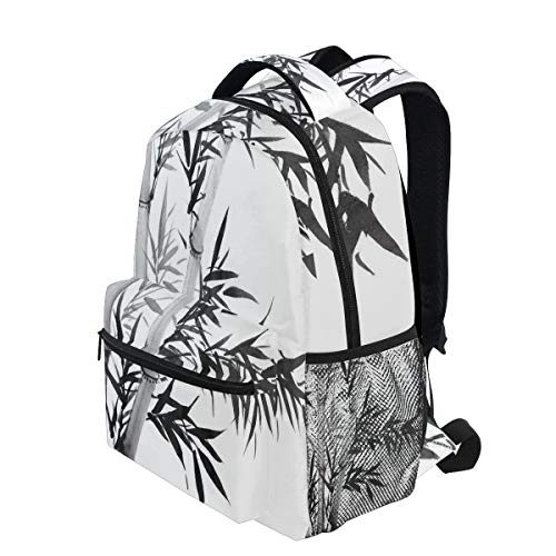 6b76bfae39d0 KVMV Bamboo Tree Illustration Traditional Chinese Calligraphy Style Asian  Culture Lightweight School Backpack Students College Bag 1st Grade School  ...