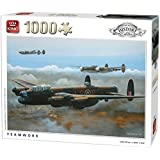 King Teamwork WW2 Lancaster Bomber Jigsaw Puzzle (1000 Pieces) History Collection by King