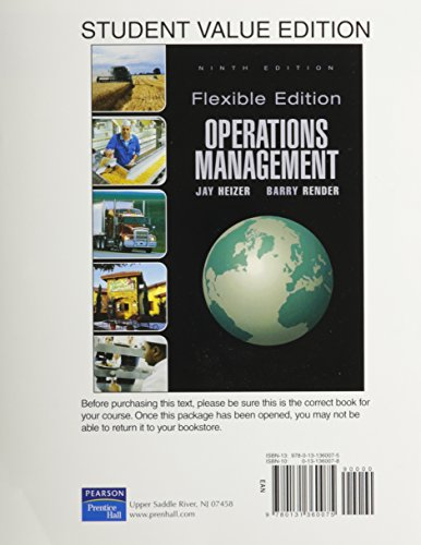 Operations Management ,Flex Version, Student Value Edition (9th Edition)