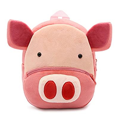 New Toddler's Backpack, Toddler's Mini School Bags Cartoon Cute Animal Plush Backpack for Kids Age 1-4 Years (Pig) | Kids' Backpacks