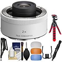 Sony 2.0x E-Mount Teleconverter Lens with Flex Tripod + Sling Strap + Flash Diffuser Set + Kit