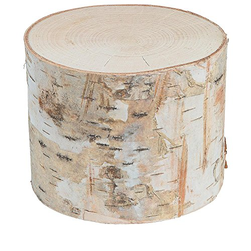 DIY Small Round Birch Pillar with Bark (With Sticky (4' Round Pillar Candle)