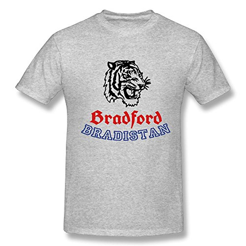 Bradford Bradistan Pincepony Gray Relaxed Fit O-Neck T Shirt X-Large Charged Lightweight T Shirts Men (Bradford Outdoor Light)