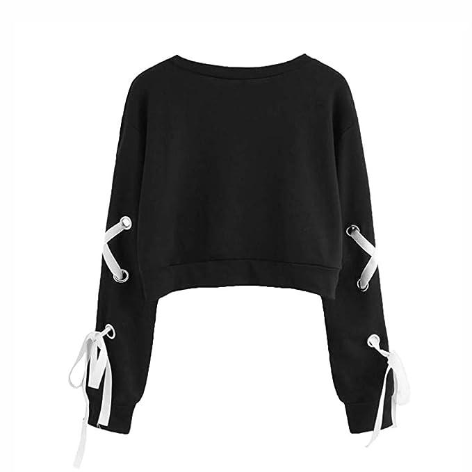 Amazon.com: YOcheerful Womens Sweatshirt Girl Cute Pullover Long Sleeve Shirt Tee Top Blouse: Clothing