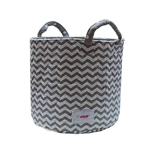 Minene UK Ltd Medium Storage Basket//Grey Chevron