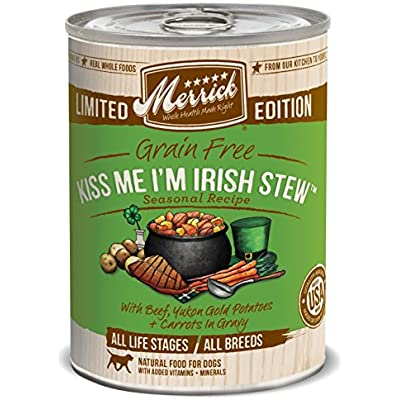 Merrick Spring Seasonals Kiss Me I'M Irish Stew For Pets (Pack Of 12), 12.7 Oz.