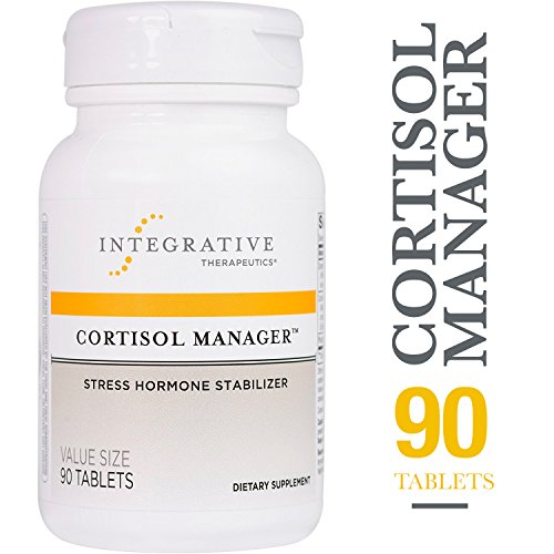 Therapeutic Aids - Cortisol Manager - Integrative Therapeutics - Sleep, Stress, and Cortisol Support Supplement* with Ashwagandha, Magnolia, and L-Theanine - Support Adrenal Health* - Vegan - 90 Tablets