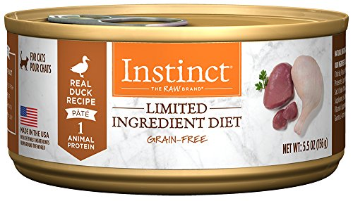 Natures Variety Instinct Duck (Instinct Limited Ingredient Diet Grain Free Real Duck Recipe Natural Wet Canned Cat Food by Nature's Variety, 5.5 oz. Cans (Case of 12))