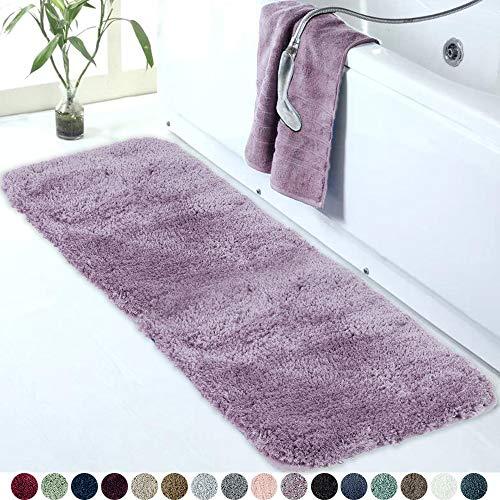 Walensee Large Bathroom Rug (24 x 60, Lavender) Extra Soft and Absorbent Shaggy Bathroom Mat Machine Washable Microfiber Bath Mat for Bathroom, Non Slip Bath Mat, Luxury Bathroom Floor Mats