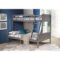 DONCO Kids 2012TFAG Louver Bunk Bed, Twin/Full, Antique Gray