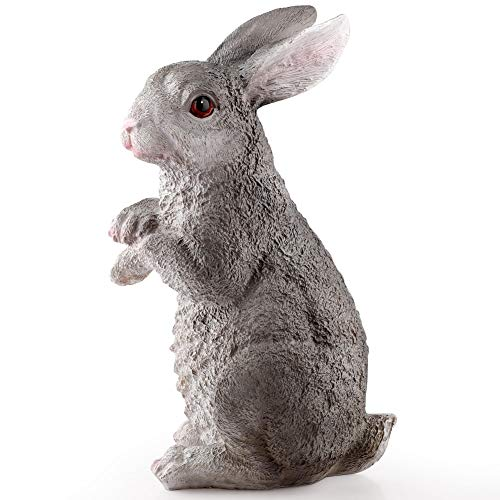 TRIEtree Garden Animal Statues,Cute Rabbits Statue Weatherproof Resin Bunny for Easter Home Garden Decoration
