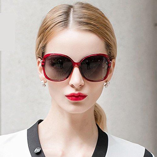 De Sol Lentes Polarizadas Color Sol Rojo Moda Rojo LIUXUEPING Elegantes Nuevas La De De Gafas De ULTRAVIOLETA Personalidad W0nxEt