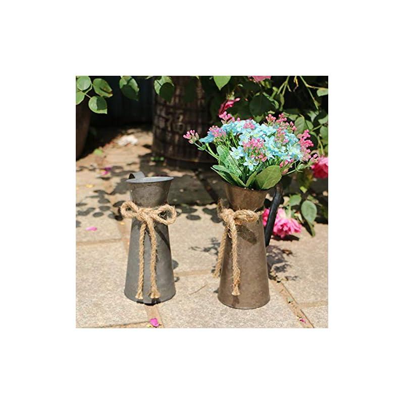 Jeeleno Farmhouse Rustic Decor Vase,Country Vintage Home Decoration,Farmhouse Chic Jug Vase,Spring Sunflower Milk Coffee…