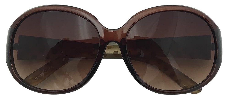 Face Trick glasses フェイストリックグラッシーズ Face Trick glasses H3100 UVカット 目と目元の美肌ケア ドットがかわいい 大きめセルフレーム オーバル型サングラスの画像