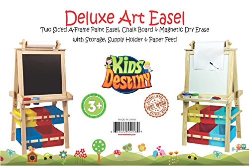 deluxe standing easel u2013 two sided aframe paint easel chalk board u0026 magnetic dry erase u2013 w storage supply holder u0026 paper feed u2013 art station u0026 educational - Dry Erase Board Paint